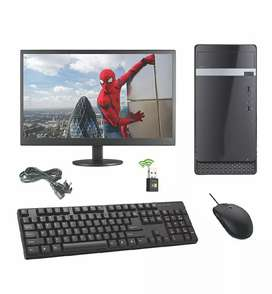 Desktop setup with wireless keyboard & mouse,  1 year warranty