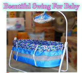Beautiful Swing Cot and Cradle with Stand Support with Mosquito Net