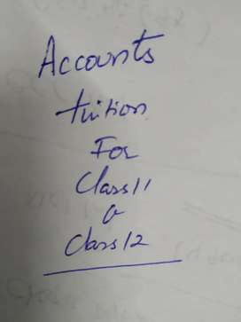 Accounts tuition for class 11 and class 12