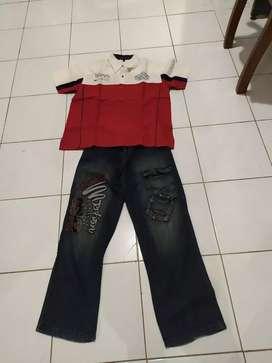 Celana jeans dan hem anak
