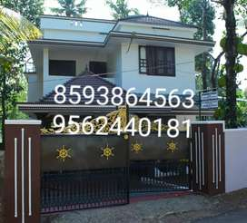 6.5 Cent Plot With 1500 Sq. Ft 3 BHK House in ayathil