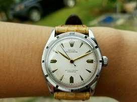 Rolex Oyster Perpetual officially certified chronometer 6103 Bubleback