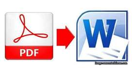 English typing PDF to Ms-word salary 23000