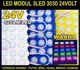 Lampu kolong led Modul Strip HPL Variasi Lensa 3mata 3030 3Watt 24Volt