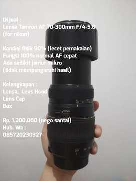 Lensa tele tamron 70-300mm F/4-5.6 LD Macro 1:2