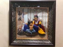 pajangan patung lukisan korea
