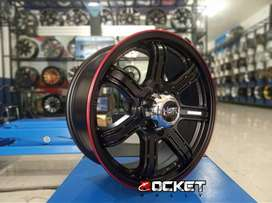 velg mobil ring 18x8 pcd 6x139,7 for pajero fortuner hilux dll