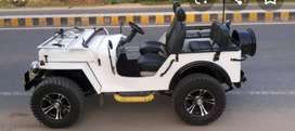 White open modified jeep