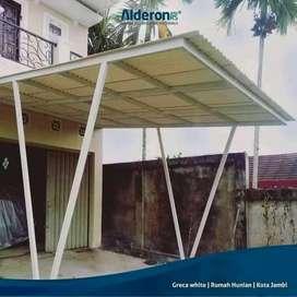 @53 canopy minimalis rangka tunggal atapnya alderon pvc bikin nyaman