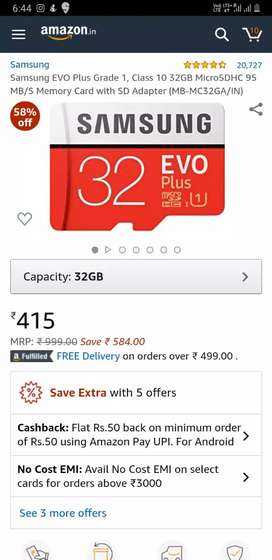 Samsung evo plus memory card
