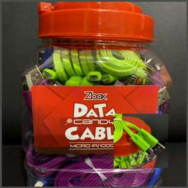 grosir kabel data zbox candy 1toples isi 40pcs