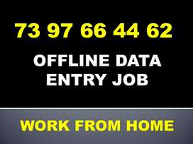 Offline data typing job.. part time!! Opportunity for all
