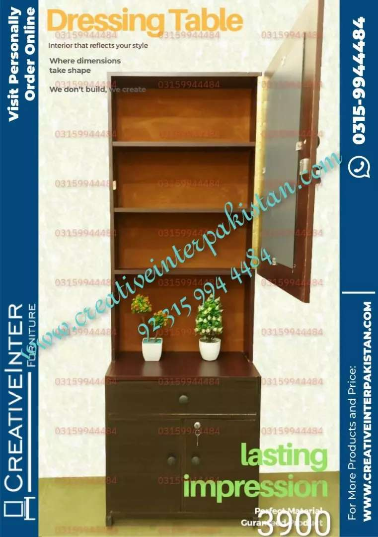 Dressing table in good price bed sofa cum bed center table iron stand 0