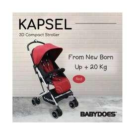 Stroller Babydoes Kapsel - Red