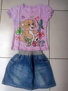 Set baju anak perempuan