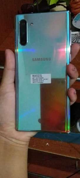 Samsung note 10 ram 8/256 gb pemakaian 1 bulan, warna aura glossy