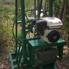 Perakitan mesin sumur bor serta pengeboran sumur