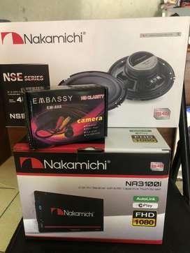 nakamichi dvd+ speaker+ camera+ pasang( folks audio)