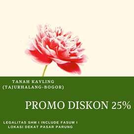 Tanah Kapling Lokasi di Tajurhalang , Diskon 25%