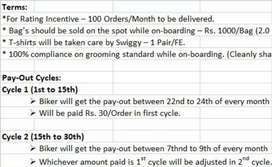 Job for food delivery company
