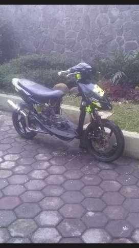 Jual Mio 2007 road race TOS 150cc full kantun gass poll