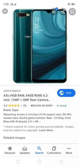 Oppo a5s 11 month worrenty..with compelt box 10.10.