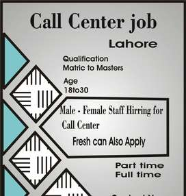 Jobs for frehsers in call centres lahore