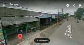 Dijual Murah Tanah 310m² + Kios 4 pintu di Jln. Raya Sepatan - Mauk