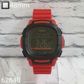 jam timex digital rubber red fiture lengkap