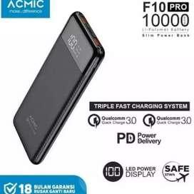 SR Power Bank ACMIC Slim F10 Pro QC3.0