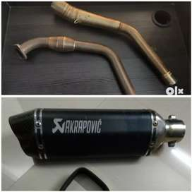 R15 v3 ,mt15 full exhaust system.exhaust and bend pipe