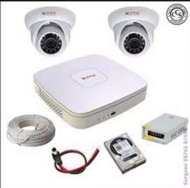 Cctv camera installation on site