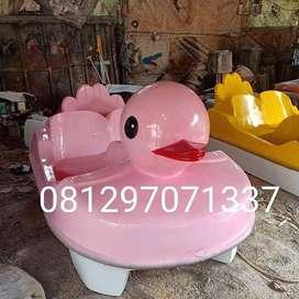 sepeda bebek itik pink atau sepeda air fiberglass