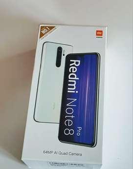 Redmi Note 8 Pro Black, White & blue color Seal Pack Box