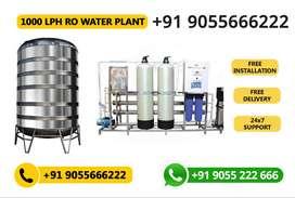 1000 LPH RO Water Treatment Plants (1 Year Manufacturer Warranty)