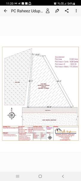 Plot for sale 4.5 cents prime land