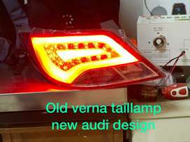 Verna fluidic led tail lights Audi style