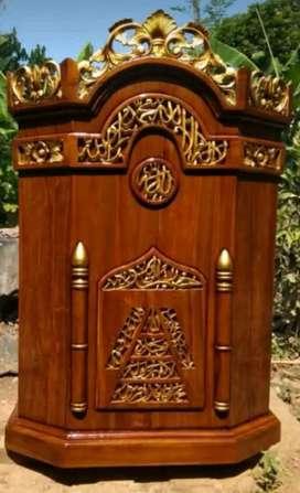 Podium/mimbar masjid ukir jepara