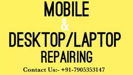 Mobile & Desktop/laptop repairing