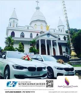 Wedding cars  rentals bmw Audi Benz Volvo