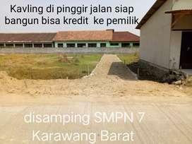 Kavling Pinggir jalan desa di disamping SMPN 7 Karawang Barat