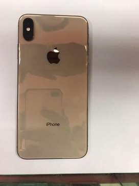 Iphone xsmax 256 gb warranty over withfull kit gold colour