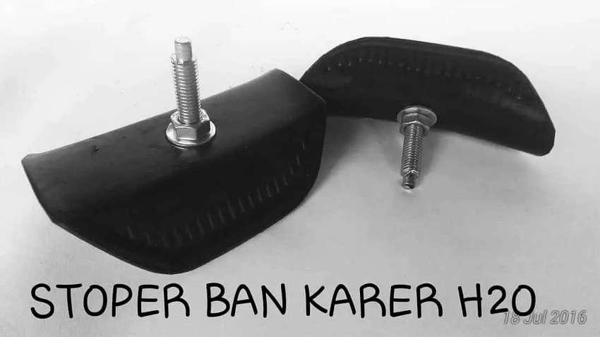 Stopper ban klx 1 set depan belakang karet barang baru