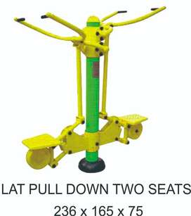 Jual Outdoor Fitness Lat Pull Down Two Seat Murah