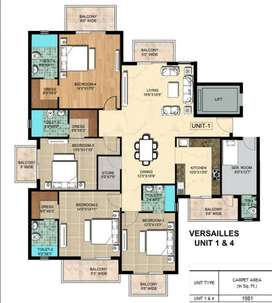 4 BHK Flat in Ambika La Parisian on sale at best price
