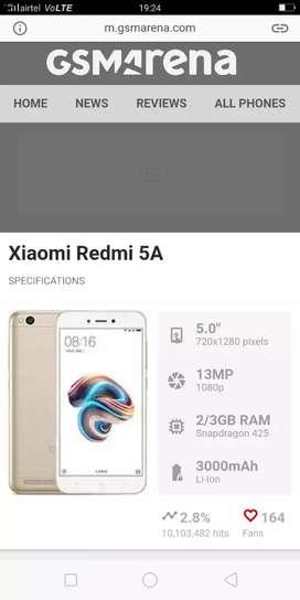 MI 5A/3 gb ram/32 gb internal/4G