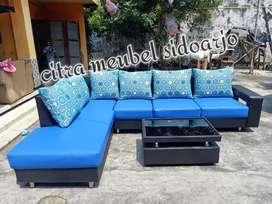 Sofa sudut blue black veritas