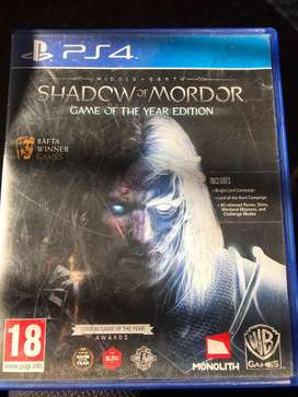 Shadow of Mordon Game of the Year Edition Ps4