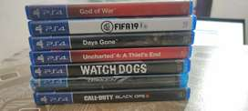 PS4 Games Available for sell or exchange