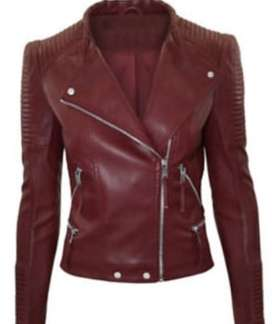Women Leather Hooded Jacket Parka Coat Overcoat Trench Warm Winter Out